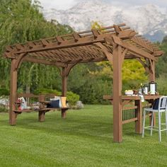 Backyard Discovery Oasis 7.91 Ft. H 14 Ft. W x 10 Ft D Pergola
