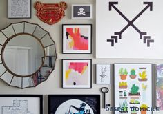 How to: Curate an Eclectic Gallery Wall #howto #tip #trick #gallerywall #eclectic #art