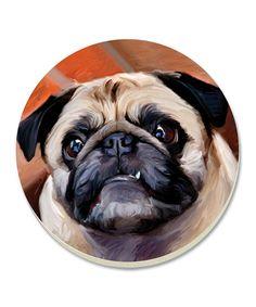 Pug Coaster - Set of Four