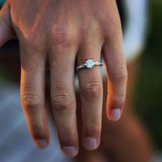 Small Engagement Ring Inspiration | There's something sweet in a little simplicity.