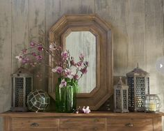 Pretty vignette with a glass float