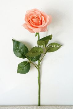 Sweet Home Deco 17'' Real Touch Rose Artificial Single Spray (Peach x 6 Pcs) *** Want to know more, click on the image. (This is an affiliate link and I receive a commission for the sales)