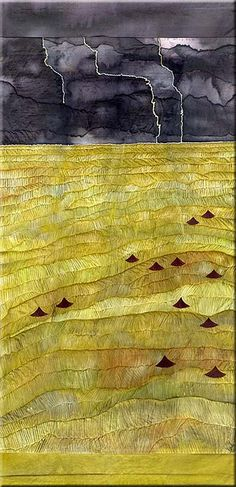 Textiles and texture. Looking for the artist...  S