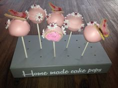 Cake Pop rosa Schmetterling