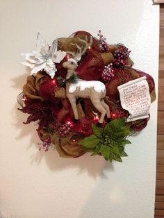Christmas Shabby Chic wreath
