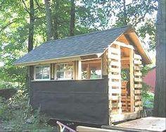 old pallet cabin