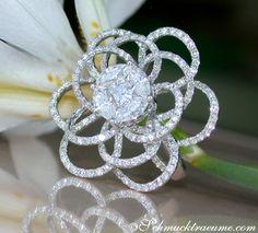 Brillanten Ring mit Diamanten, Weißgold 750