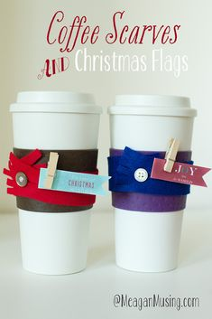 #Coffee #Scarves & #Christmas Flags - Simple Christmas gift idea for pastor and staff appreciation:)