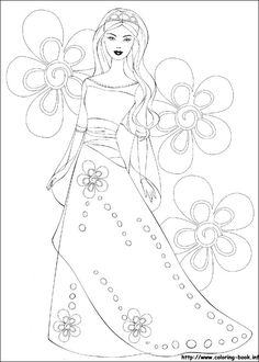 barbie valentines day coloring pages