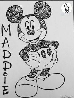 Floral Printed Mickey / Minnie Design by byjamierose on Etsy