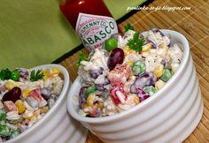 Pasta Salad, Acai Bowl, Potato Salad, Oatmeal, Salads, Food And Drink, Potatoes, Snacks, Cooking