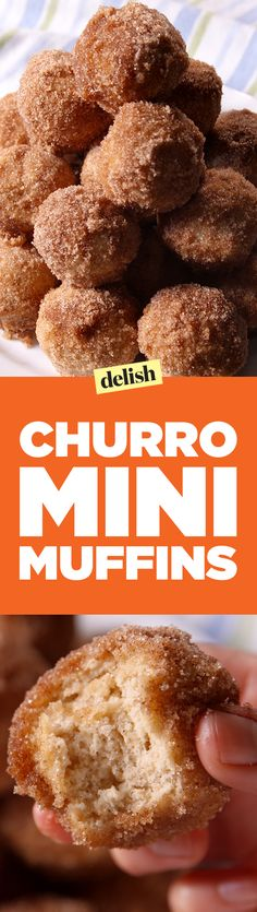 Churro mini muffins are so cute and sweet, it's impossible to have just one. Get the recipe on Delish.com.