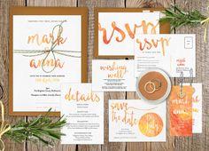 Hochzeit Einladung Satz, Sommer Hochzeit, Hochzeitseinladung druckbare, Hochzeit Briefpapier Set, Postkarte RSVP-Hochzeit,