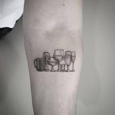   Fine.Drinks #blackworke #dotwork #finelinetattoo #fineliner #tattoo #tatts #ttt #tattoo2me tattoo by @marcelomeneses