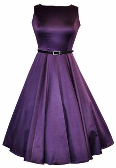 Cadbury Purple Hepburn Dress : Lady Vintage