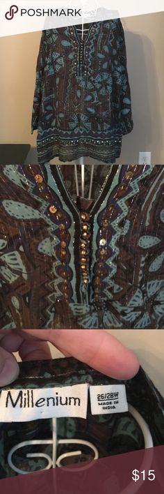 Millennium Tunic Long Sleeve, lightweight Tunic Millenium Tops Tunics