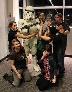 Stormtrooper life sized geek cake Starwars