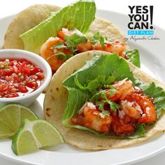 Tostadas de Camaron - a Yes You Can! Diet Plan lunch recipe
