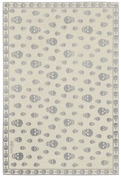 """Alexander McQueen skull rug - love it, perfect to add some """"edge"""" to a classic interior..."""