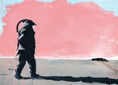 Eat Dessert First, Life Is Uncertain. Oil painting on canvas by artist Airco Caravan 51 x x 95 cm), 2013 Eat Dessert First, Oil Painting On Canvas, The Creator, Superhero, Artist, Astronaut, Photography, Caravan, Inspiration