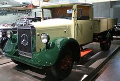 A Mercedes Benz Lo2000 Diesel in the Mercedes Benz Museum, Stuttgart.   The Lo2000 was the world's first light truck with a diesel engine.