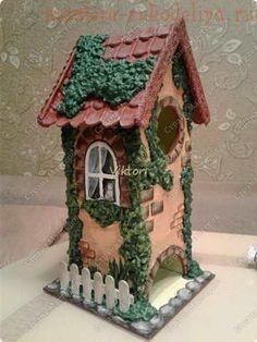 Как задекорировать заготовку Чайный домик с помощью соленого теста и шпатлевки Polymer Clay Crafts, Diy Clay, Cute House, Paris Art, Bird Houses, Decoupage, Decorative Boxes, Outdoor Decor, Home Decor