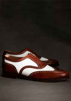 Shoes for men - 1920s style clothing menswear - gatsby brooks brothers MH00324_BROWN-WHITE_G.jpg
