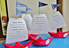 sailboat invitations | boat invitations