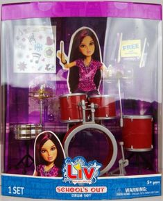 Liv Doll Daniela's Drum Set Play Set by Spin Master. $49.99. From the Manufacturer                Highly detailed and realistic teen activities that align with the dolls' personalities and allow girls to play out stories with their dolls.