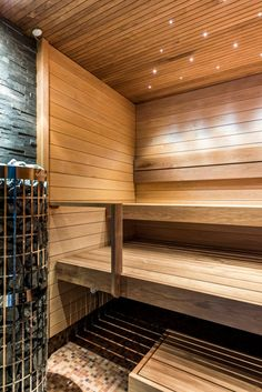 Sauna 16 | Sauna Manager Saunas, Blinds, Management, Stairs, Curtains, Home Decor, Stairway, Decoration Home, Staircases