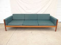 Danish Modern Westnofa Solid Teak Floating Sofa Couch Mid Century Norway | eBay. $1,299. Very pretty, but a little big for my purposes.