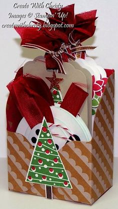Stampin' Up! Festival of Trees Tag Box - Gift Box Punch Board - Create With Christy - Christy Fulk, Stampin' Up! Demo