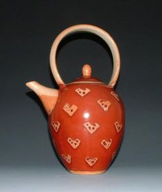 Richey Bellinger - Shino Copper Red Teapot