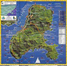 Mapa com as praias de Ilhabela