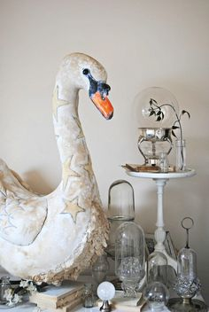 Textile swan by Mister Finch
