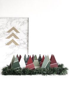 New DIY up on the blog >> an Advent calendar for your desk and it's made of paint chips! Come see how easy >> #drawntodiy.com