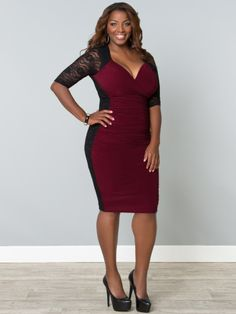 Valentina Illusion Dress by Kiyonna, the name says it all! find it via www.ladiva.dk