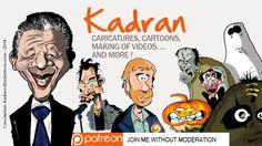 Support Kadran creating caricatures, cartoons, illustrations, videos tutorials...