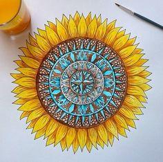 #sunflower #mandala