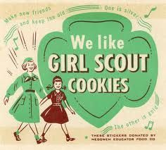 Vintage Girl Scout Cookie Posters - need some advertising for Flora?