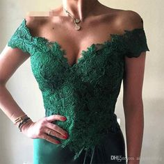 Sexy Dark Green Long Prom Dresses 2017 Lace V Neck Off Shoulder Front Split vestidos de fiesta Formal Dresses Evening Gowns Wear