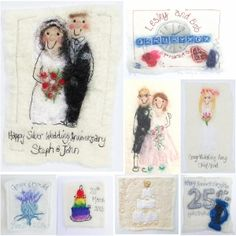 Personalised wedding cards by red cat handmade