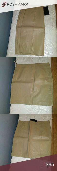 Faux leather skirt Vegan friendly faux leather pencil skirt Side zipper and rear split blaque label Skirts Pencil