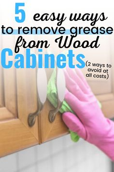 Cleaning Cabinets, Cleaning Wood, Deep Cleaning Tips, Household Cleaning Tips, Cleaning Recipes, House Cleaning Tips, Natural Cleaning Products, Cleaning Solutions, Cleaning Hacks