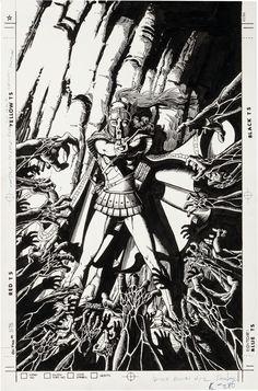 Image of George Perez Wonder Woman V2 #12 Cover Original Art (DC, 1988).... | Lot #92351 | Heritage Auctions
