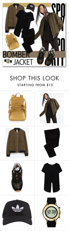 """""""Senza titolo #432"""" by lallaleonardi ❤ liked on Polyvore featuring DKNY, Zara, Old Navy, New Balance, adidas, women's clothing, women, female, woman and misses"""