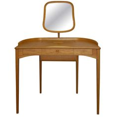 Beautiful Sculptural Vanity Carl Malmsten   From a unique collection of antique and modern vanities at http://www.1stdibs.com/furniture/tables/vanities/