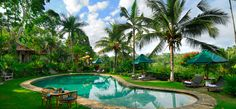 Ubud, Bali - Alam Sari Hotel - Gorgeous place nestled in the Balinese Mountains.  Restaurant uses all organic food grown in the Alum Sari gardens.  Cultural activities offered and free Ubud tour.  Reasonable rates at around 80.00 per night.  Beautiful rooms.