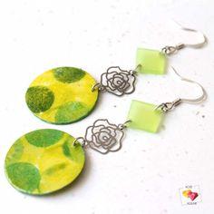 boucles-oreilles-papier-resine-vert-fleur-metal-rose-agrume