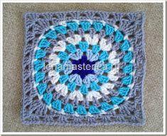 Crochet granny square motif Мотив крючком, схема, описание